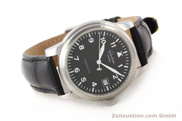 Used luxury watch Glashütte Navigator steel automatic Kal. 39-10  | 141276 03