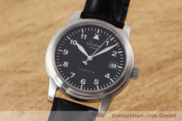 Used luxury watch Glashütte Navigator steel automatic Kal. 39-10  | 141276 04