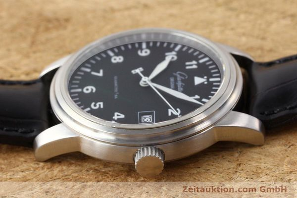 Used luxury watch Glashütte Navigator steel automatic Kal. 39-10  | 141276 05