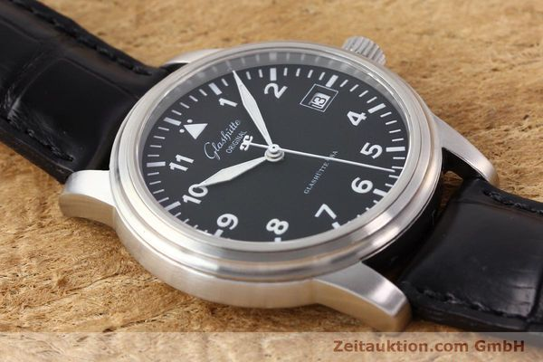 Used luxury watch Glashütte Navigator steel automatic Kal. 39-10  | 141276 13