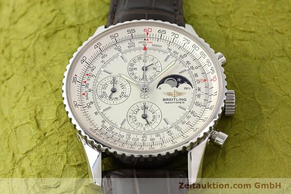 Used luxury watch Breitling Montbrillant steel automatic Kal. B19 ETA 2892A2 Ref. A19340  | 141281 14