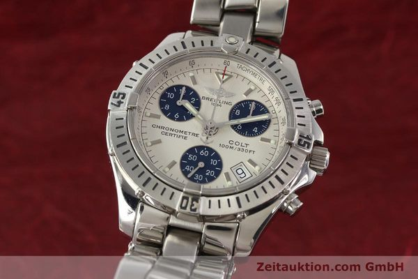 Used luxury watch Breitling Colt chronograph steel quartz Kal. B73 Ref. A73350  | 141287 04