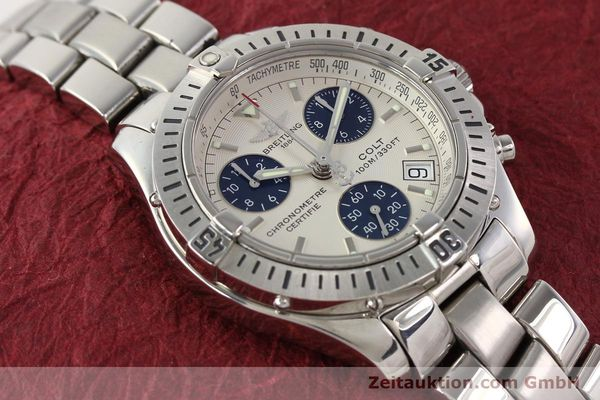 Used luxury watch Breitling Colt chronograph steel quartz Kal. B73 Ref. A73350  | 141287 16