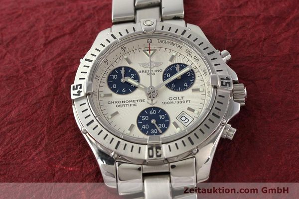 Used luxury watch Breitling Colt chronograph steel quartz Kal. B73 Ref. A73350  | 141287 17