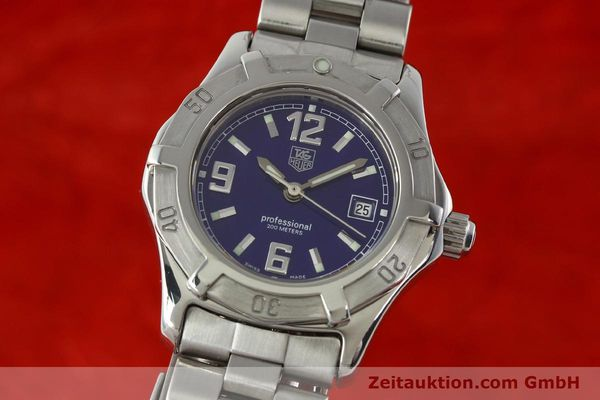 Used luxury watch Tag Heuer Professional steel quartz Kal. 2.98 ETA 955112 Ref. WN1312 VINTAGE  | 141288 04
