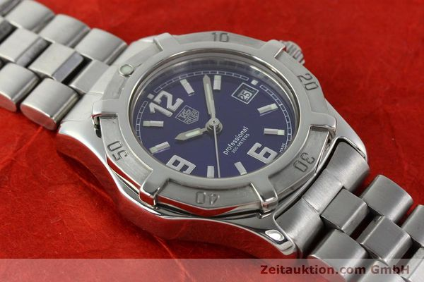 Used luxury watch Tag Heuer Professional steel quartz Kal. 2.98 ETA 955112 Ref. WN1312 VINTAGE  | 141288 13