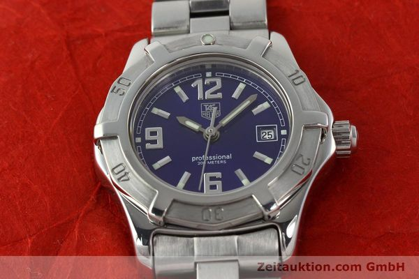 Used luxury watch Tag Heuer Professional steel quartz Kal. 2.98 ETA 955112 Ref. WN1312 VINTAGE  | 141288 14