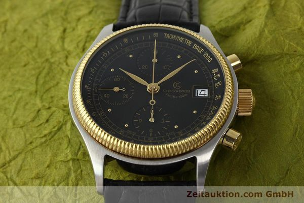 Used luxury watch Chronoswiss Pacific steel / gold automatic Kal. VAL 7750 Ref. CH7514  | 141291 15