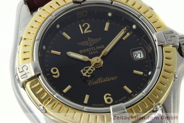 Used luxury watch Breitling Callistino steel / gold quartz Kal. B52 ETA 256.112 Ref. D52045  | 141296 02