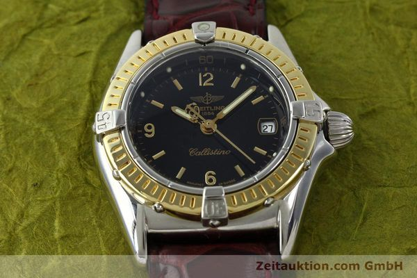Used luxury watch Breitling Callistino steel / gold quartz Kal. B52 ETA 256.112 Ref. D52045  | 141296 13