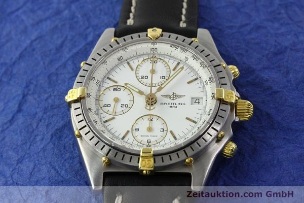 Used luxury watch Breitling Chronomat chronograph steel / gold automatic Kal. B13 VAL 7750 Ref. 81950B13047  | 141297 13
