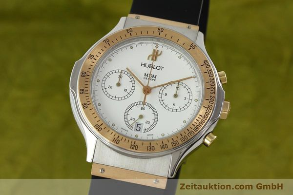 Used luxury watch Hublot MDM chronograph steel / gold quartz Kal. 1270 Ref. 1620.7  | 141298 04