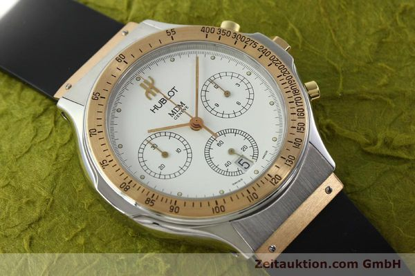Used luxury watch Hublot MDM chronograph steel / gold quartz Kal. 1270 Ref. 1620.7  | 141298 13