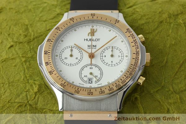 Used luxury watch Hublot MDM chronograph steel / gold quartz Kal. 1270 Ref. 1620.7  | 141298 14
