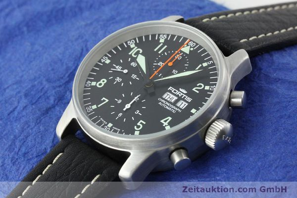 Used luxury watch Fortis Flieger steel automatic Kal. ETA 7750 Ref. 597.10.141.1  | 141303 01