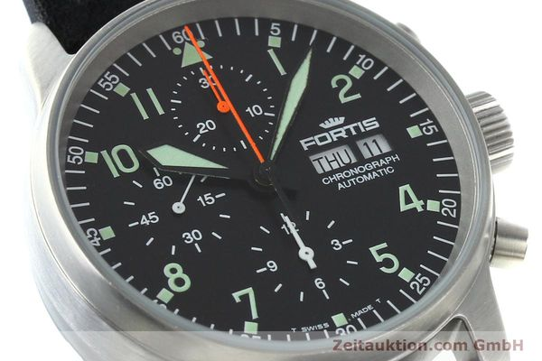 Used luxury watch Fortis Flieger steel automatic Kal. ETA 7750 Ref. 597.10.141.1  | 141303 02