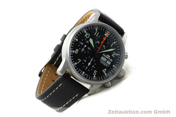 Used luxury watch Fortis Flieger steel automatic Kal. ETA 7750 Ref. 597.10.141.1  | 141303 03