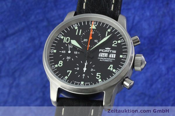 Used luxury watch Fortis Flieger steel automatic Kal. ETA 7750 Ref. 597.10.141.1  | 141303 04