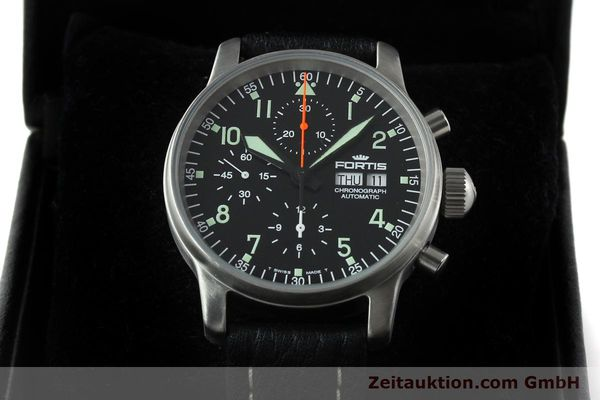 Used luxury watch Fortis Flieger steel automatic Kal. ETA 7750 Ref. 597.10.141.1  | 141303 07