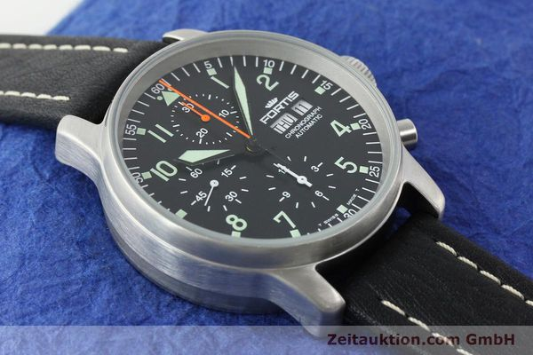 Used luxury watch Fortis Flieger steel automatic Kal. ETA 7750 Ref. 597.10.141.1  | 141303 14