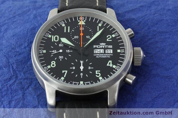 Used luxury watch Fortis Flieger steel automatic Kal. ETA 7750 Ref. 597.10.141.1  | 141303 15