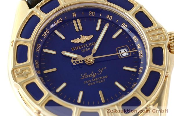 Used luxury watch Breitling Lady J 18 ct gold quartz Kal. B52 ETA 256.112 Ref. K52065.1  | 141304 02