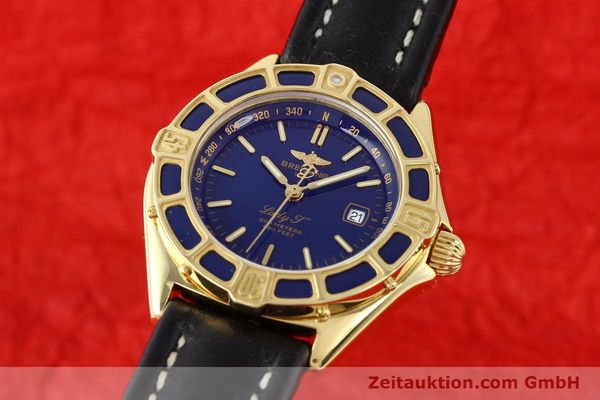 Used luxury watch Breitling Lady J 18 ct gold quartz Kal. B52 ETA 256.112 Ref. K52065.1  | 141304 04