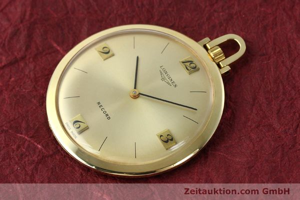 Used luxury watch Longines Taschenuhr 18 ct gold manual winding Kal. Record 666  | 141306 01
