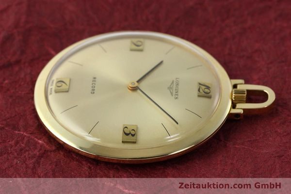 Used luxury watch Longines Taschenuhr 18 ct gold manual winding Kal. Record 666  | 141306 03