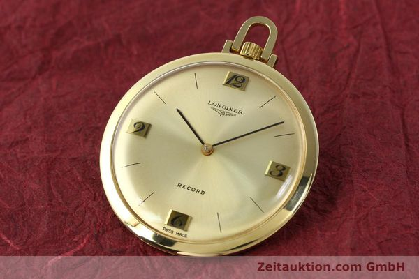 Used luxury watch Longines Taschenuhr 18 ct gold manual winding Kal. Record 666  | 141306 04