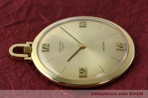 Used luxury watch Longines Taschenuhr 18 ct gold manual winding Kal. Record 666  | 141306 05