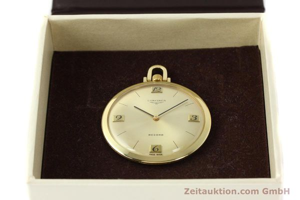 Used luxury watch Longines Taschenuhr 18 ct gold manual winding Kal. Record 666  | 141306 07