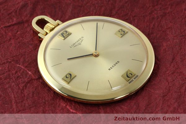 Used luxury watch Longines Taschenuhr 18 ct gold manual winding Kal. Record 666  | 141306 13