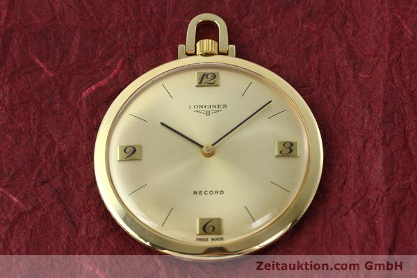 Used luxury watch Longines Taschenuhr 18 ct gold manual winding Kal. Record 666  | 141306 14