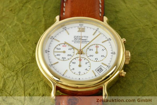 Used luxury watch Zenith Elprimero gold-plated automatic Kal. 400 Ref. 20.0020.400  | 141315 14