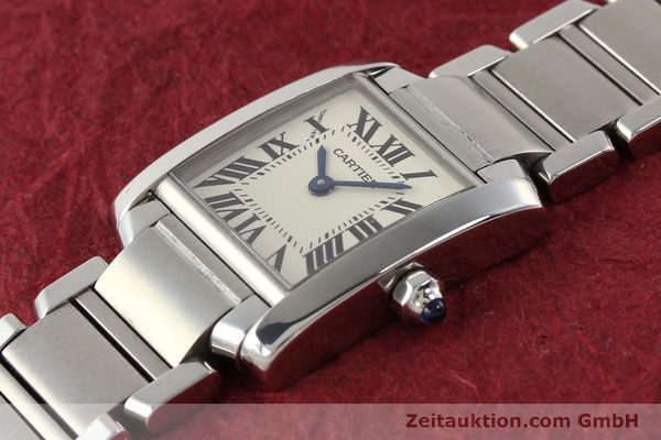 Used luxury watch Cartier Tank steel quartz Kal. 057 VINTAGE  | 141318 01