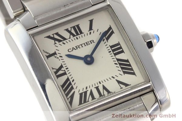 Used luxury watch Cartier Tank steel quartz Kal. 057 VINTAGE  | 141318 02