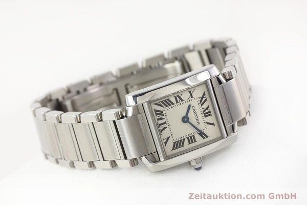 Used luxury watch Cartier Tank steel quartz Kal. 057 VINTAGE  | 141318 03