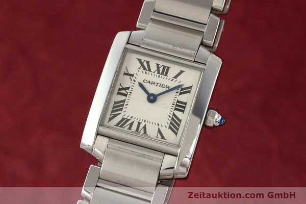 Used luxury watch Cartier Tank steel quartz Kal. 057 VINTAGE  | 141318 04