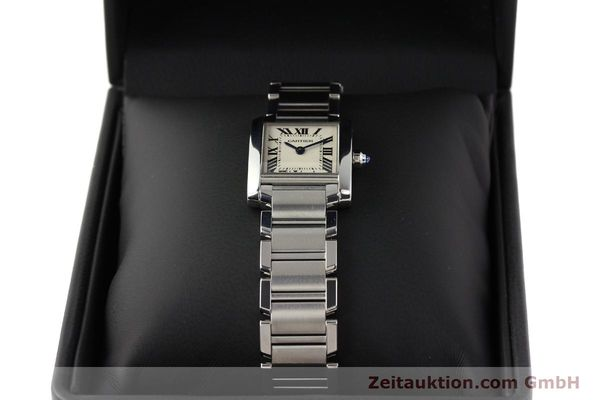 Used luxury watch Cartier Tank steel quartz Kal. 057 VINTAGE  | 141318 07