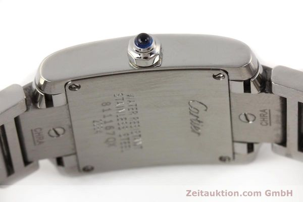 Used luxury watch Cartier Tank steel quartz Kal. 057 VINTAGE  | 141318 08