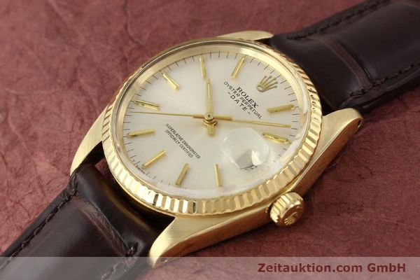 Used luxury watch Rolex Date 14 ct yellow gold automatic Kal. 1570 Ref. 1500  | 141320 01