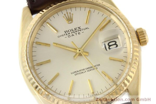 Used luxury watch Rolex Date 14 ct yellow gold automatic Kal. 1570 Ref. 1500  | 141320 02