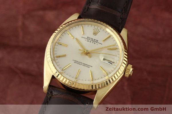 Used luxury watch Rolex Date 14 ct yellow gold automatic Kal. 1570 Ref. 1500  | 141320 04