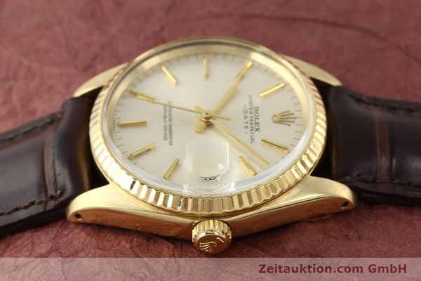 Used luxury watch Rolex Date 14 ct yellow gold automatic Kal. 1570 Ref. 1500  | 141320 05