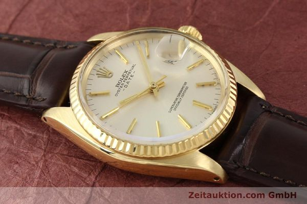 Used luxury watch Rolex Date 14 ct yellow gold automatic Kal. 1570 Ref. 1500  | 141320 13