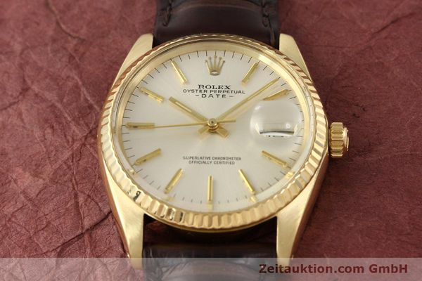 Used luxury watch Rolex Date 14 ct yellow gold automatic Kal. 1570 Ref. 1500  | 141320 14
