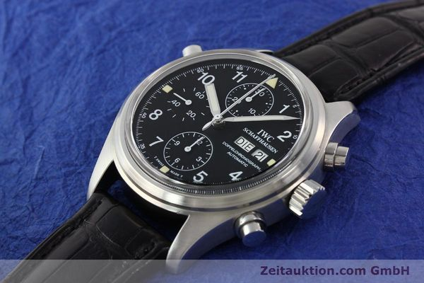 Used luxury watch IWC Doppelchronograph steel automatic Kal. C.79030 Ref. 3711  | 141326 01