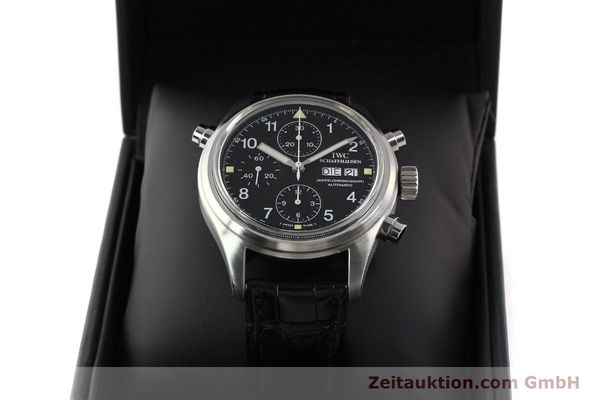 Used luxury watch IWC Doppelchronograph steel automatic Kal. C.79030 Ref. 3711  | 141326 07