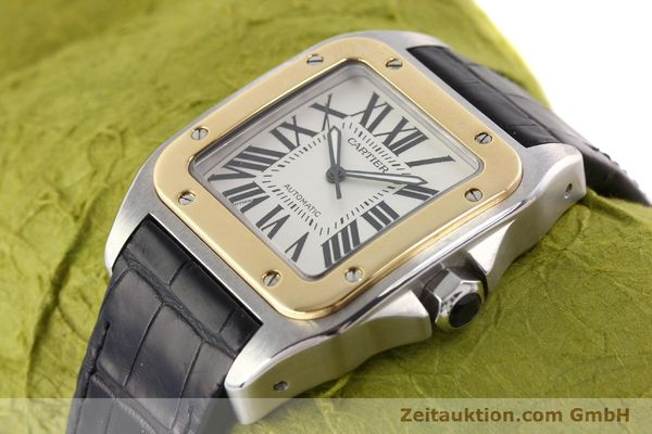 Used luxury watch Cartier Santos steel / gold automatic Kal. 049 ETA 2892A2  | 141329 01